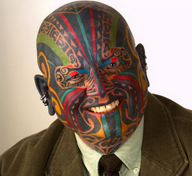 facial tattoos.
