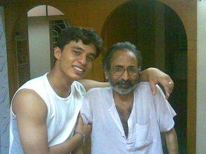 Karan and his father, my friend Prakash