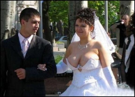 Oh lord do not take a deep breath! Anyone even notice the groom?