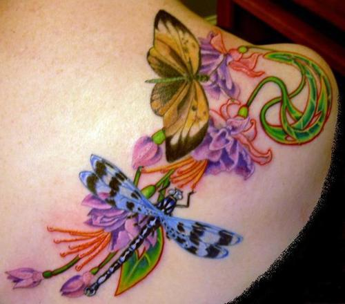 Tattoos of butterflies in China can symbolize love.