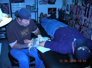 D tattooing Hubby