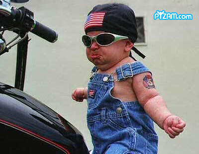 Now that's a future biker dude!