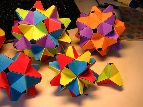 Modular Origami By: F. Decomite on Flickr