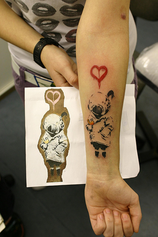 Personally I love the Banksy tattoos and I don 39t consider his art or the